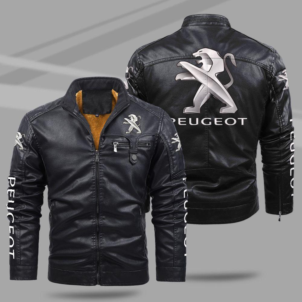 Peugeot Fleece Leather Jacket
