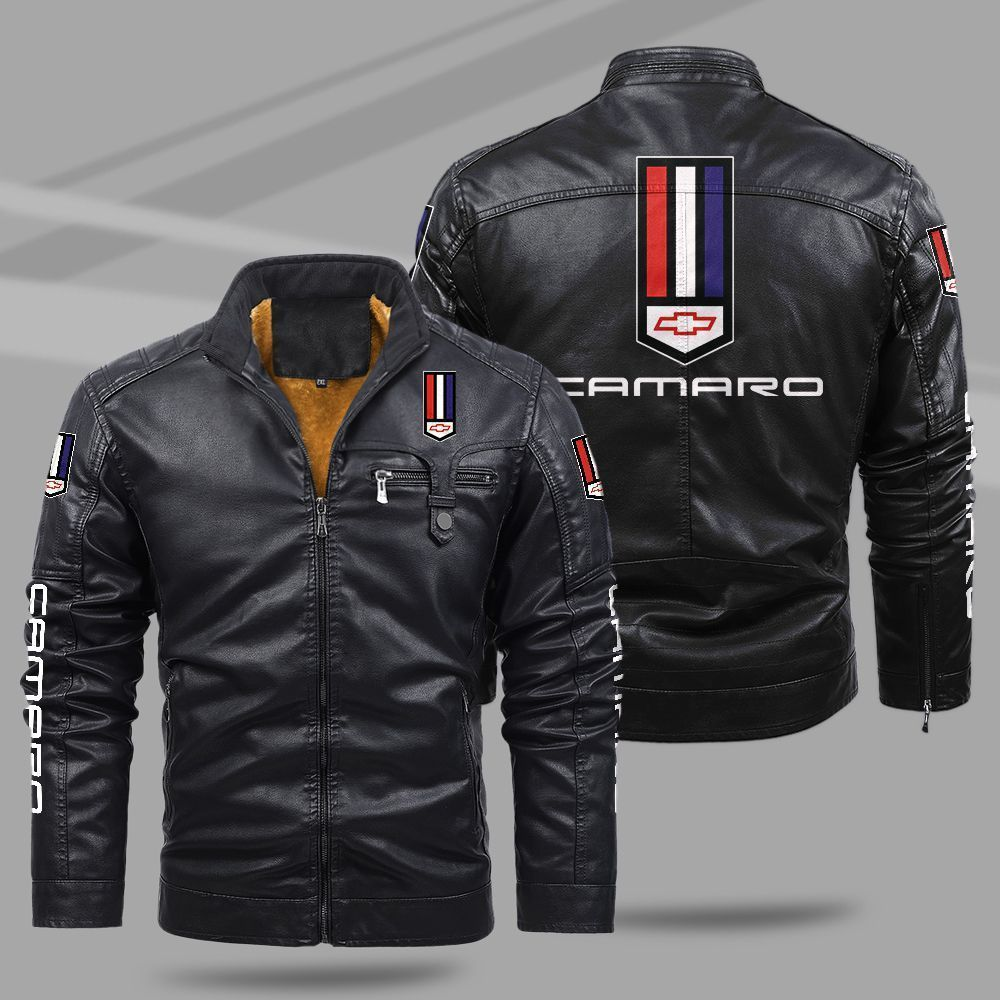 Chevrolet Camaro Fleece Leather Jacket