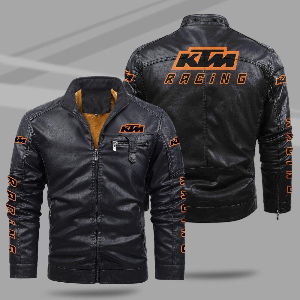 KTM Fleece Leather Jacket