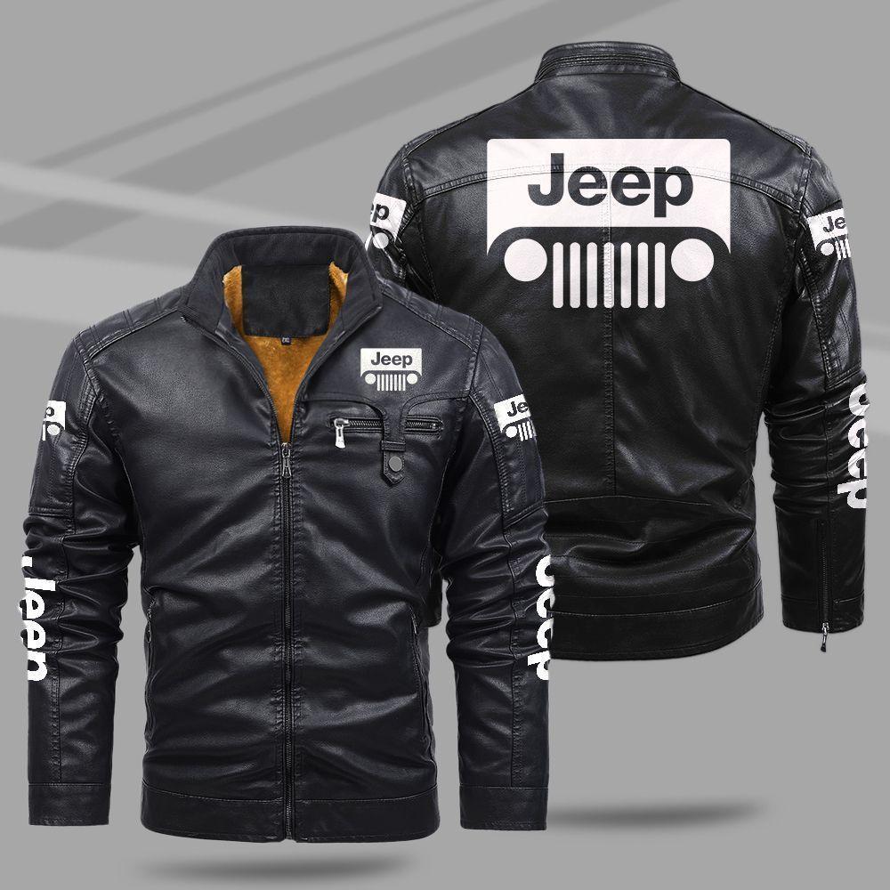 Jeep Fleece Leather Jacket