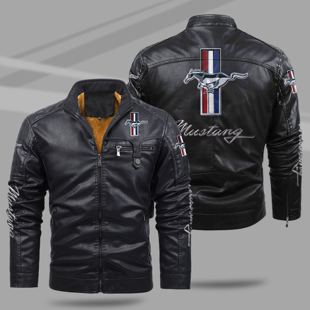Ford Mustang Fleece Leather Jacket
