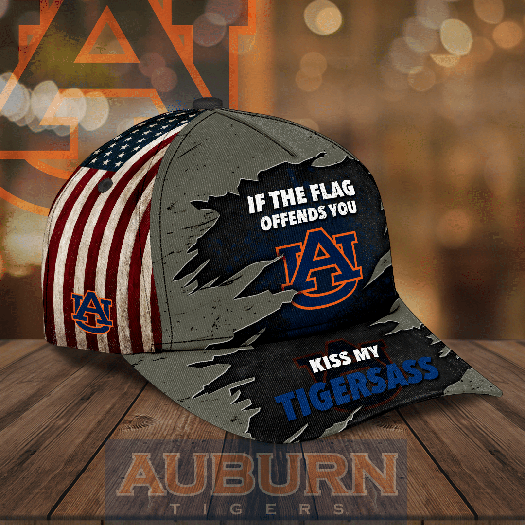 Auburn Tigers NCAA If the Flag Offends You Kiss My Tigersass Full Printed Hat