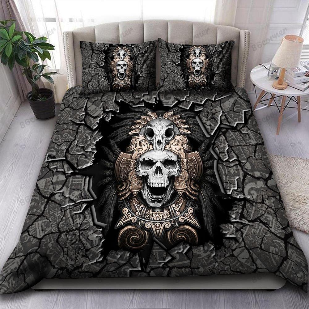 Aztec Skull Warrior Bedding Set