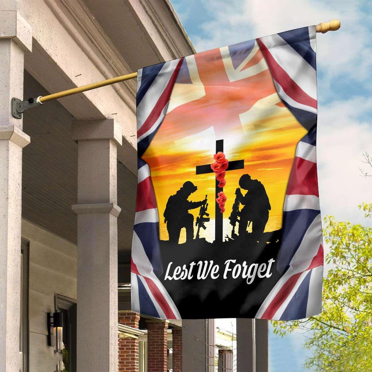 Lest We Forget UK Remembrance Day flag