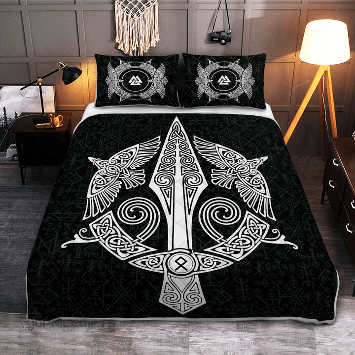 Gungnir Spear Of Odin Viking Quilt Bedding Set