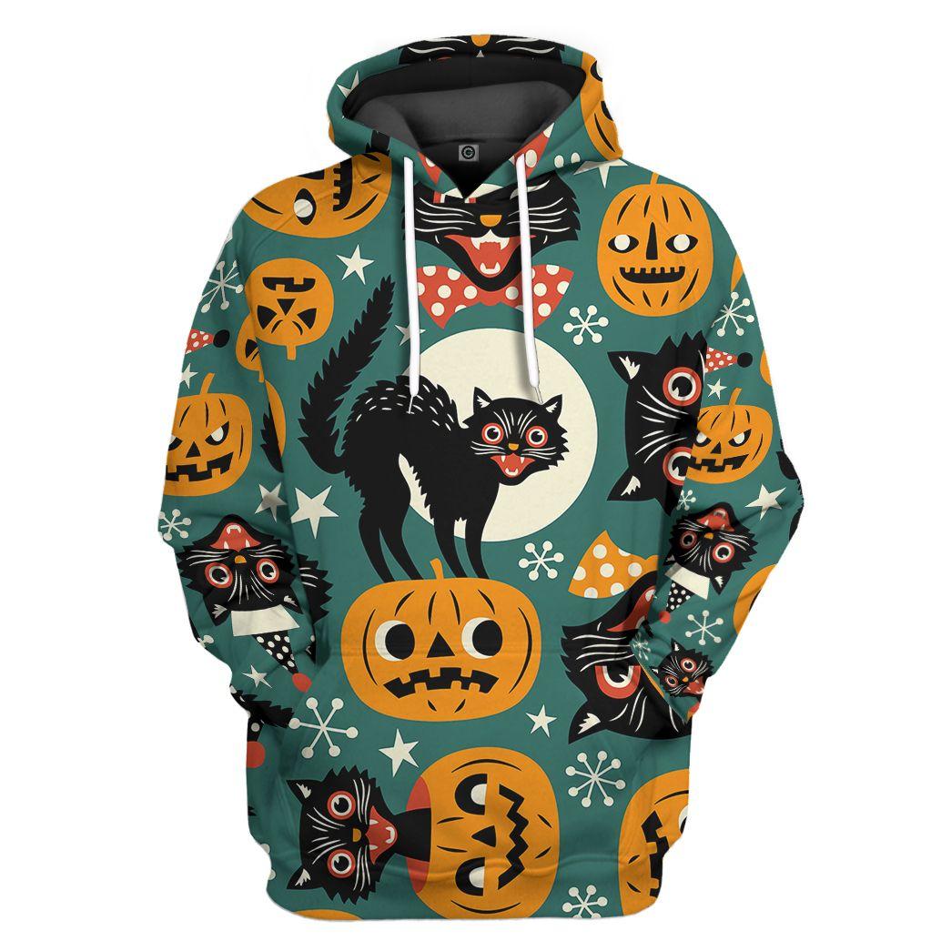 Halloween Black Cats Pumpkin Animation hoodie