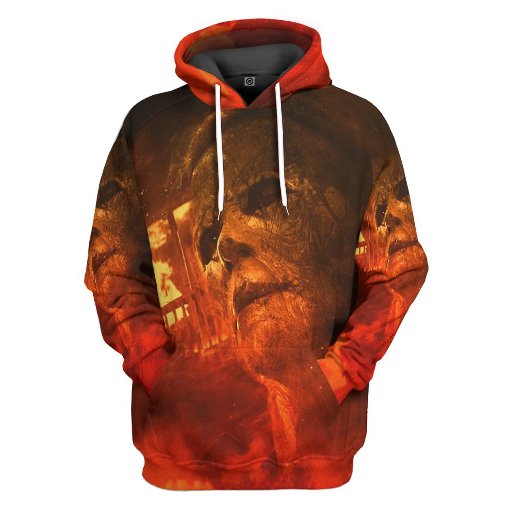 Halloween Kills Michael Myers Face fire Color Hoodie