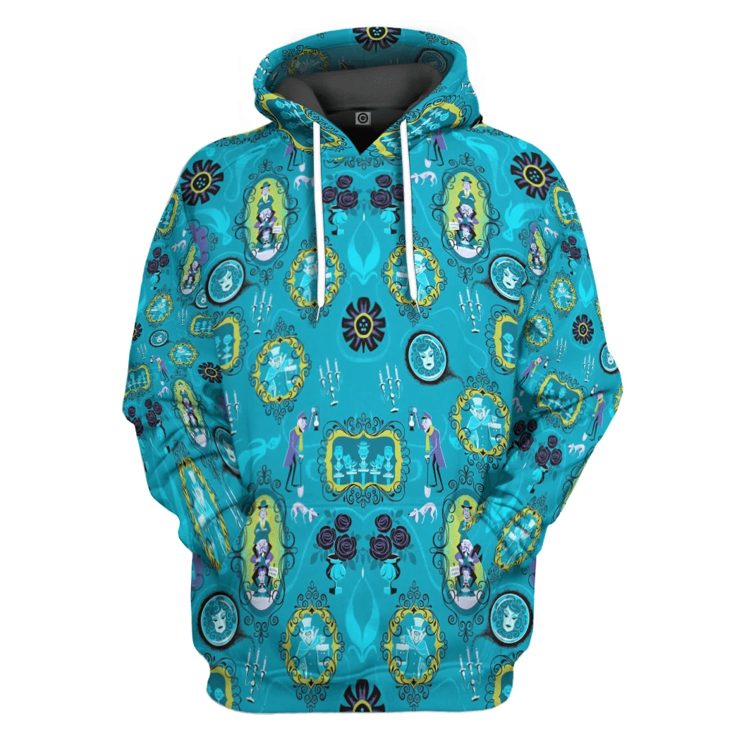 The Haunted Mansion Halloween Blue Hoodie