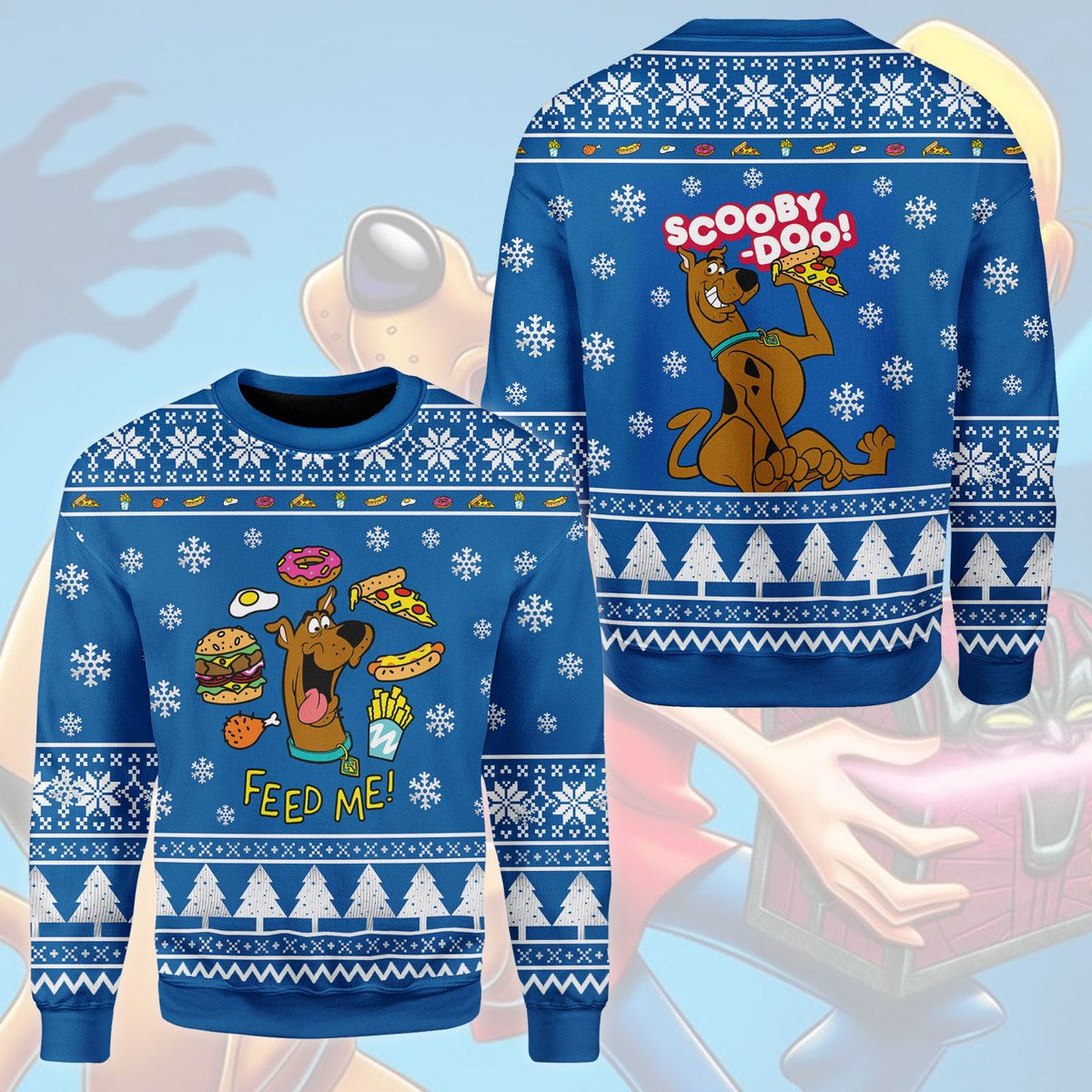 Scooby Doo Feed Me 3D Printed Ugly Sweater
