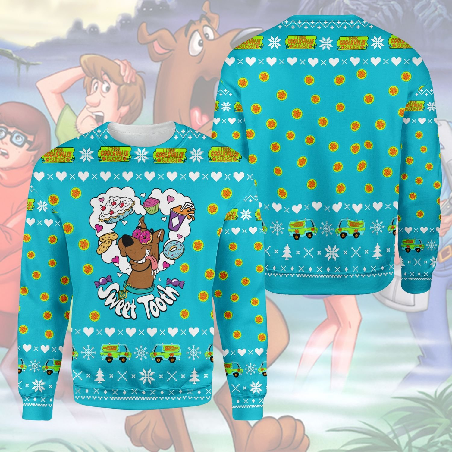 Sweet Tooth Scooby Doo 3D Printed Ugly Sweater