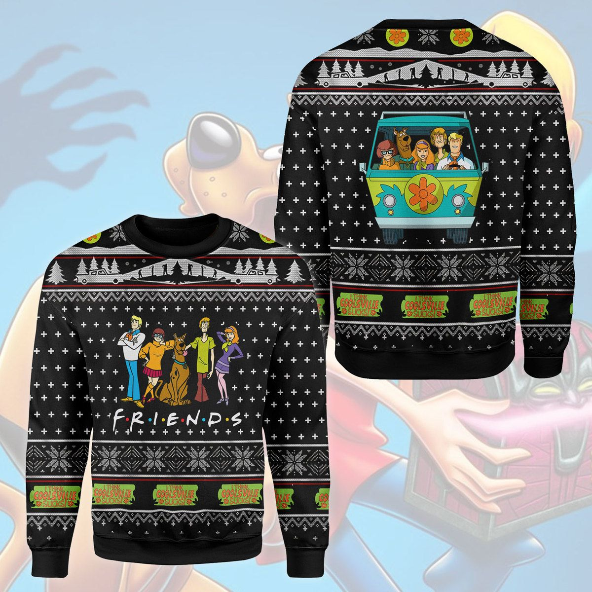 Friends Scooby Doo 3D Printed Ugly Sweater