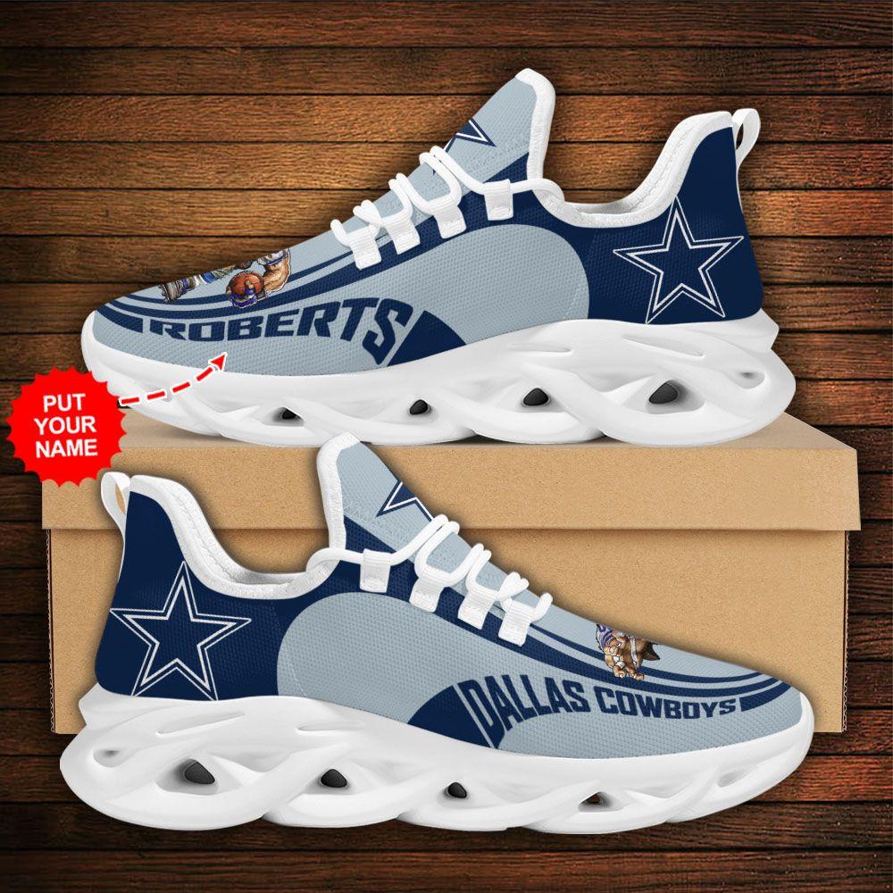 Custom Name NFL Dallas Cowboys sport Max Soul Sneaker