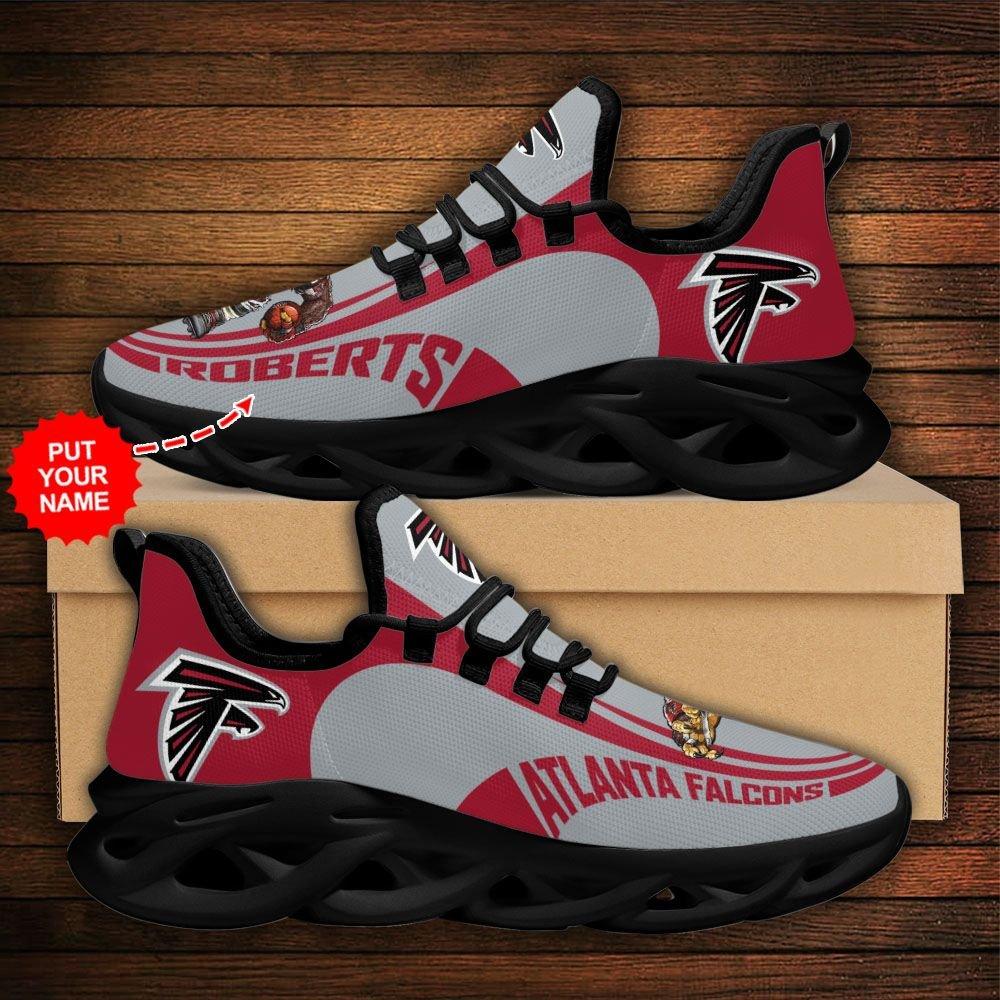 Custom Name NFL Atlanta Falcons sport Max Soul Sneaker