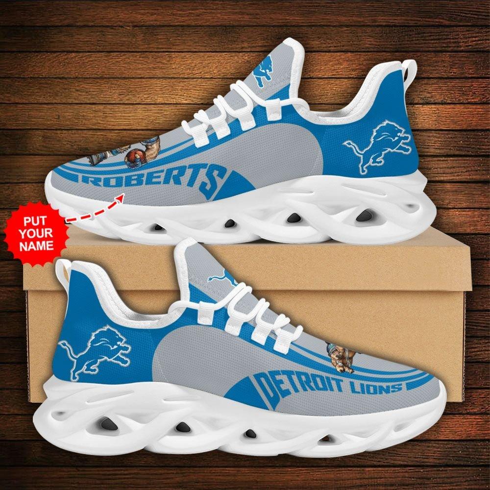 Custom Name NFL Detroit Lions sport Max Soul Sneaker