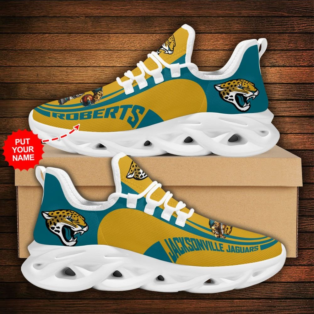 Custom Name NFL Jacksonville Jaguars sport Max Soul Sneaker