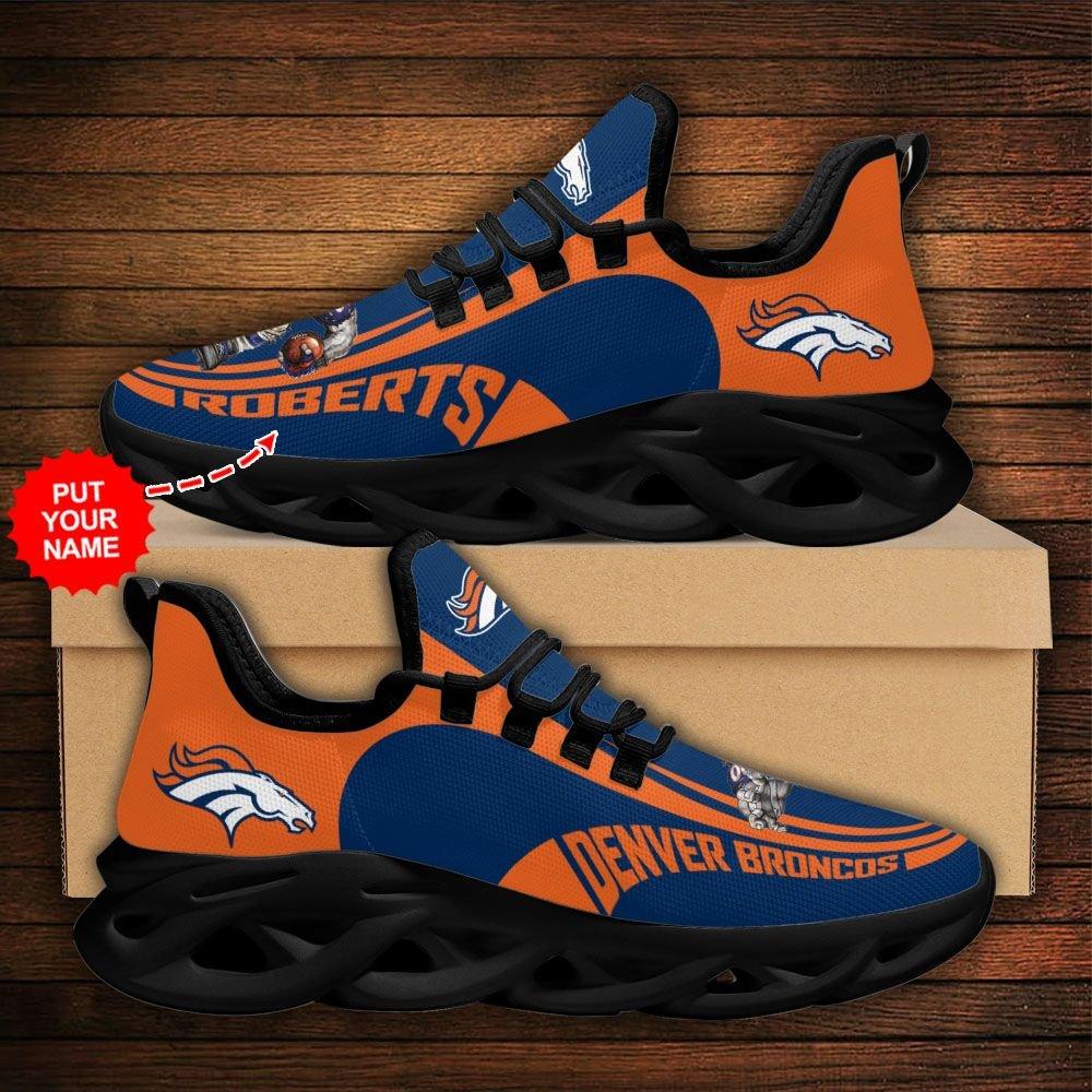 Custom Name NFL Denver Broncos sport Max Soul Sneaker