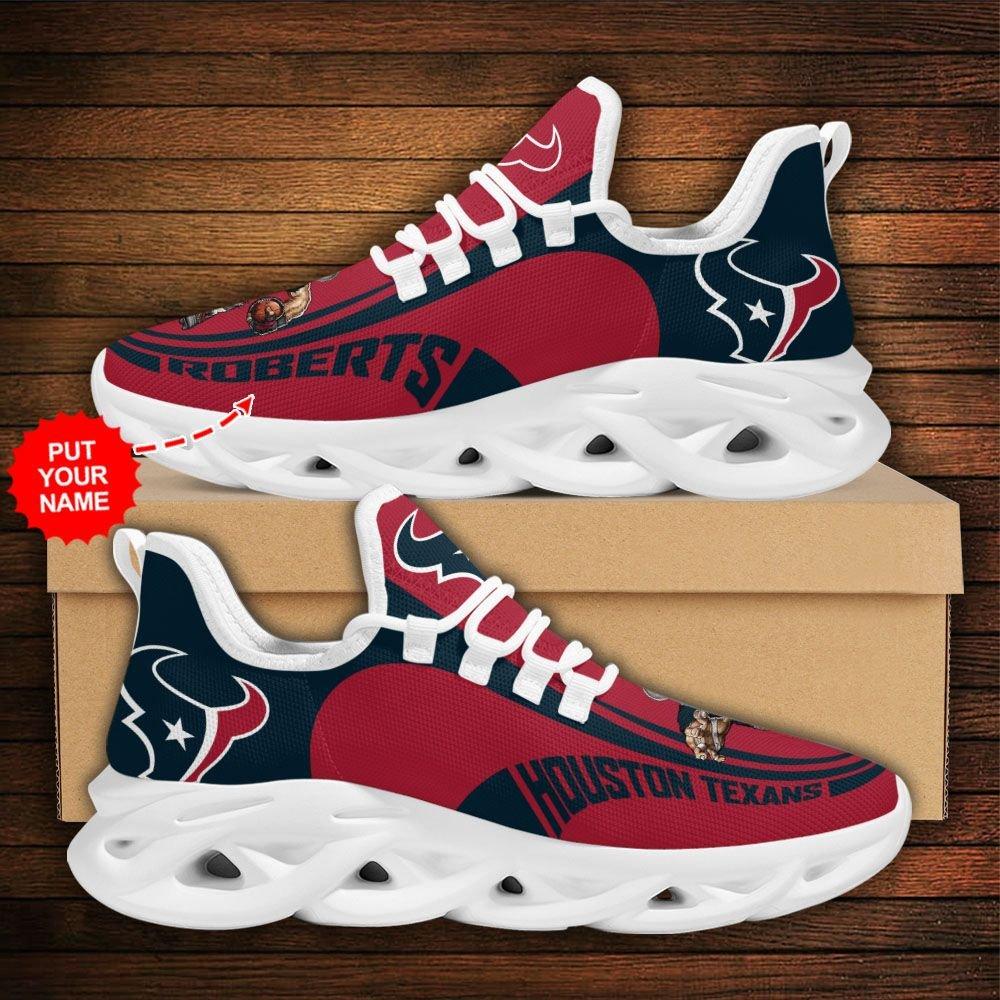 Custom Name NFL Houston Texans sport Max Soul Sneaker