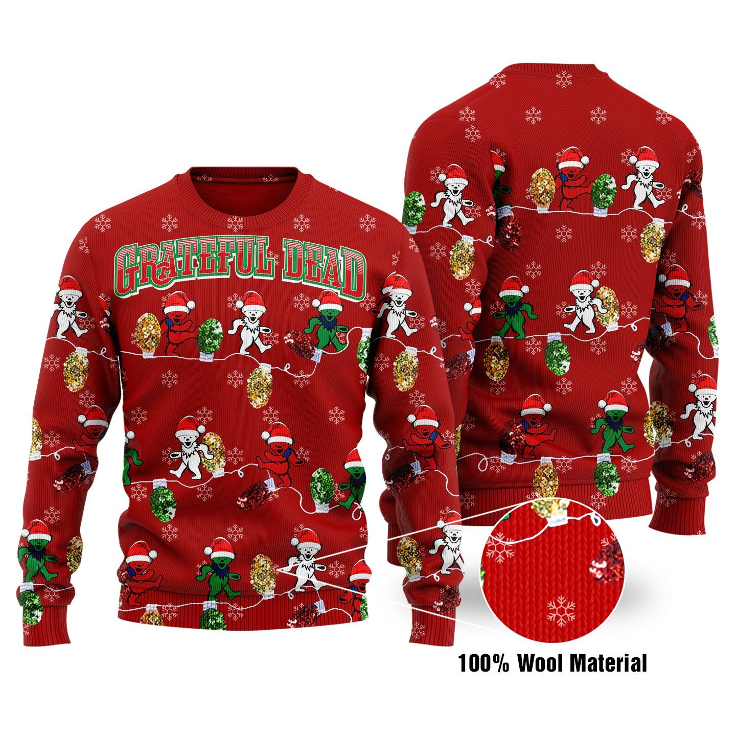 Grateful Dead KNITTED Ugly SWEATER
