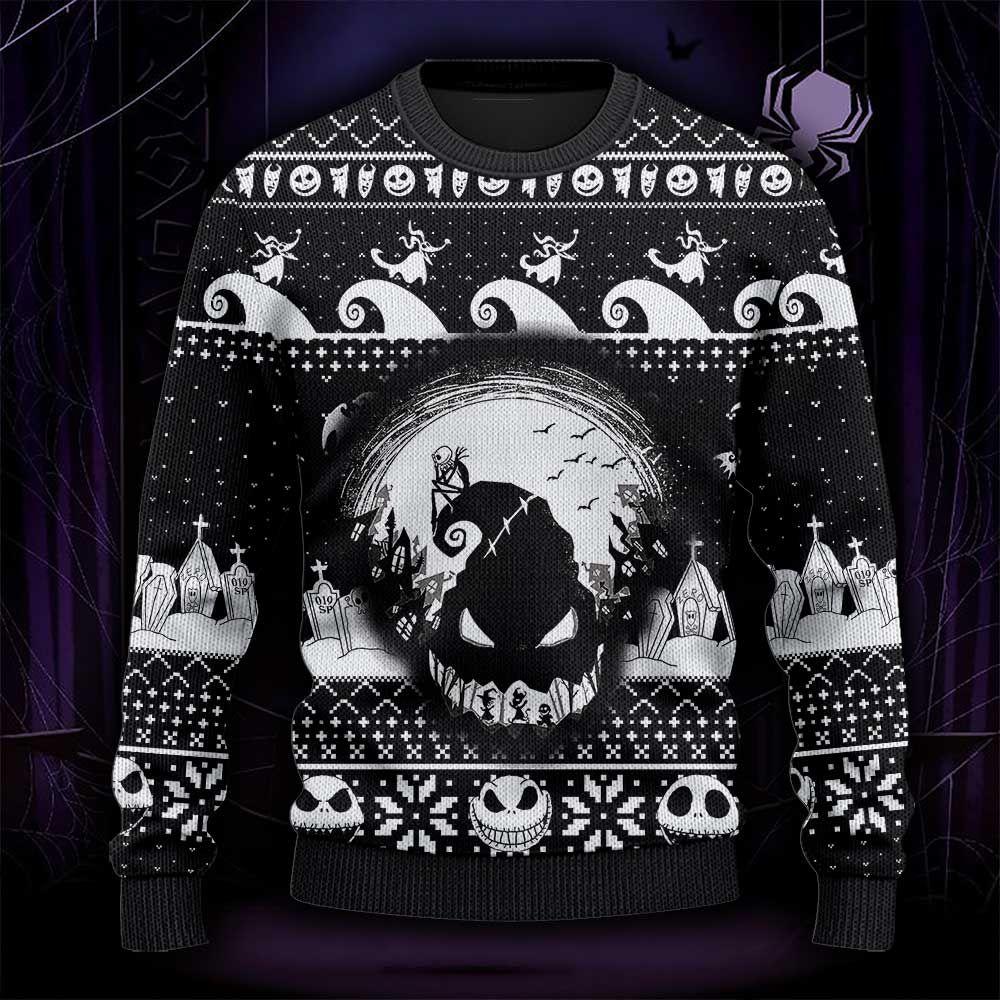 Funny Skeleton Halloween Nightmare Ugly Sweater