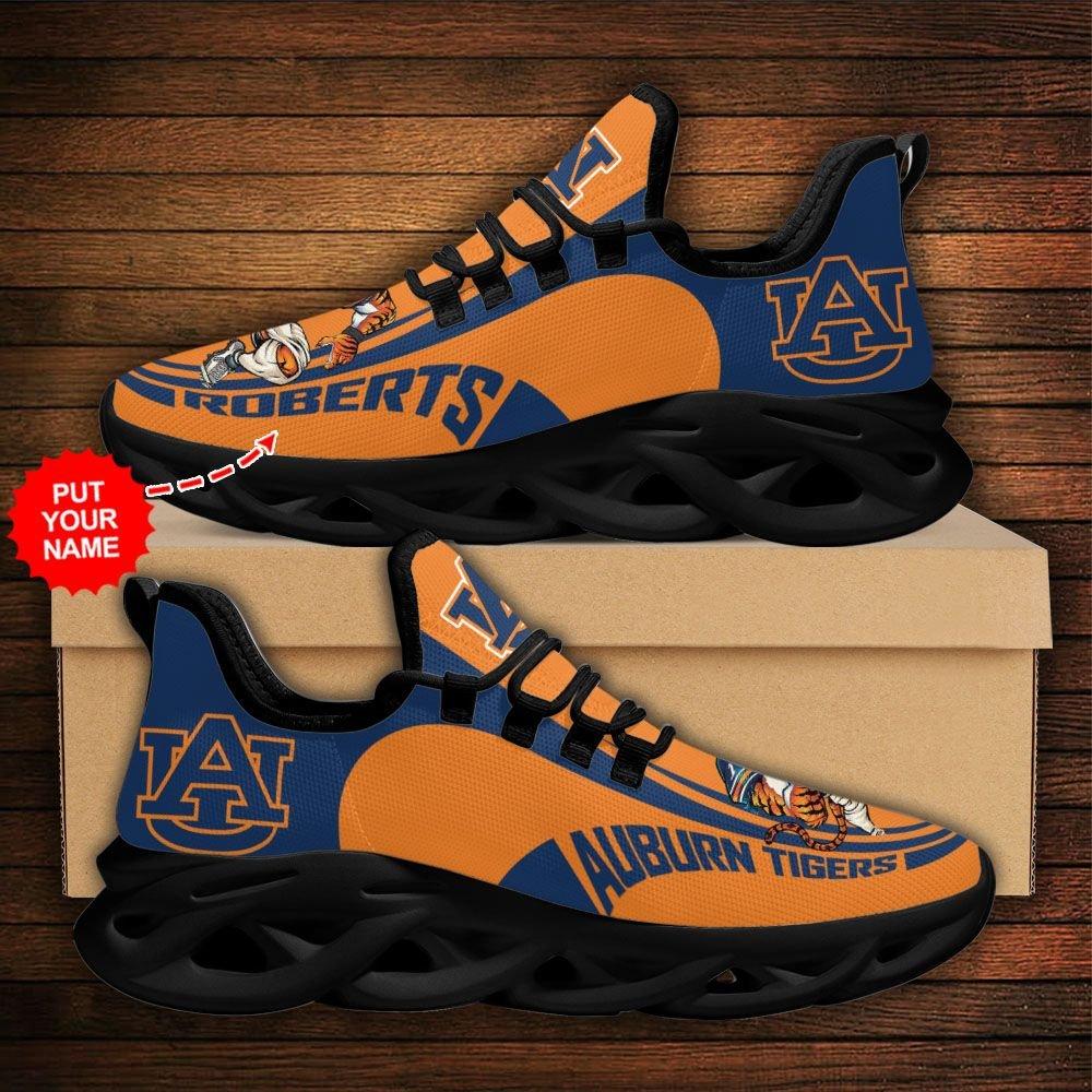 Custom Name NCAA Auburn Tigers Max Soul Sneaker