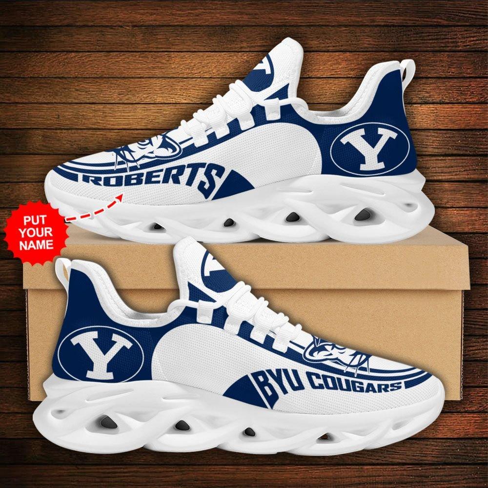 Custom Name NCAA BYU Cougars Max Soul Sneaker