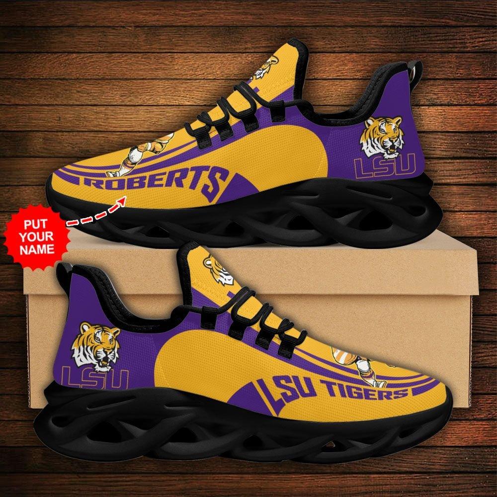 Custom Name NCAA LSU Tigers Max Soul Sneaker