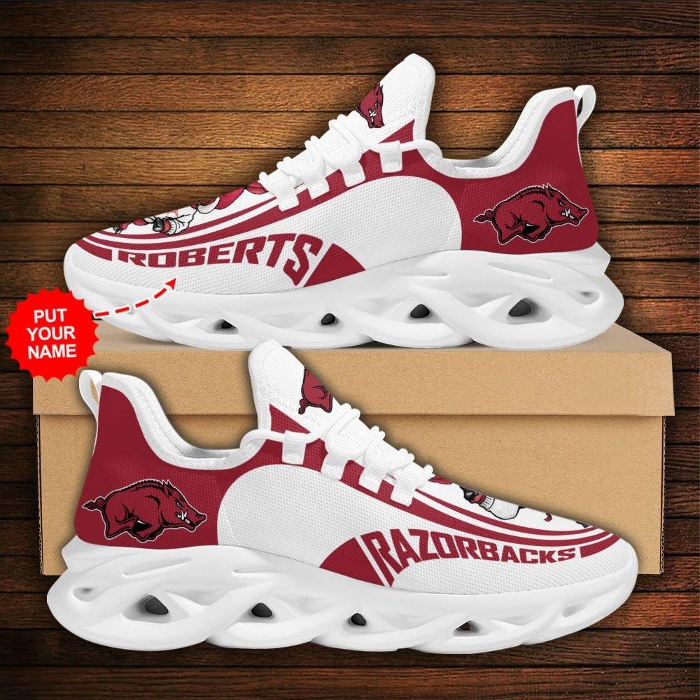 Custom Name NCAA Arkansas Razorbacks Max Soul Sneaker