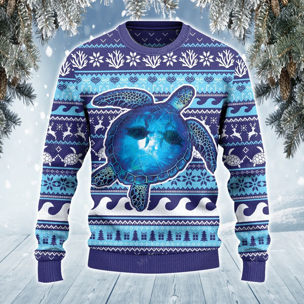 Sea Turtle Lovers Into The Ocean Ugly Sweater