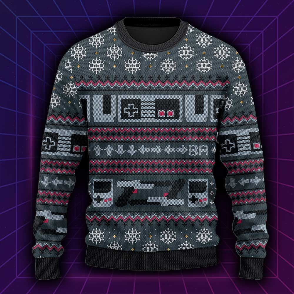 Vintage Game Console Gamer Gift Ugly Sweater