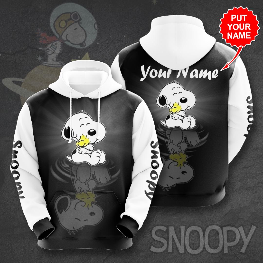 Custom Name lovely Snoopy 3D Printed Hoodie
