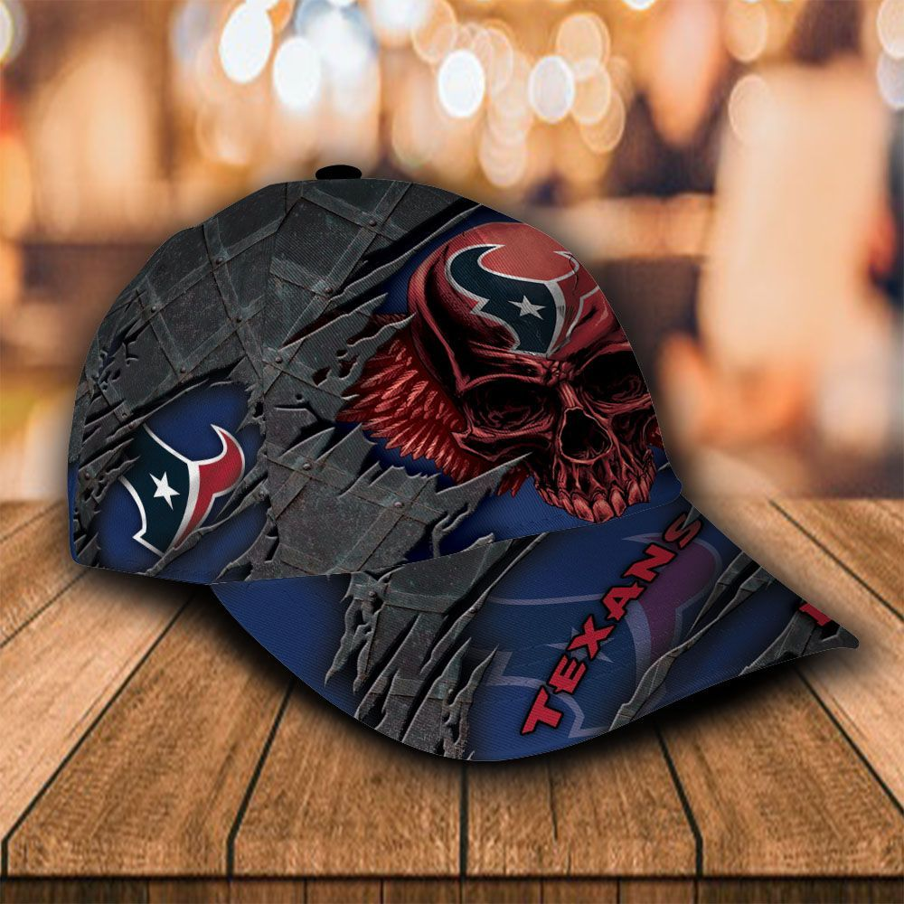 Custom Name NFL Houston Texans Cap Classic Skull
