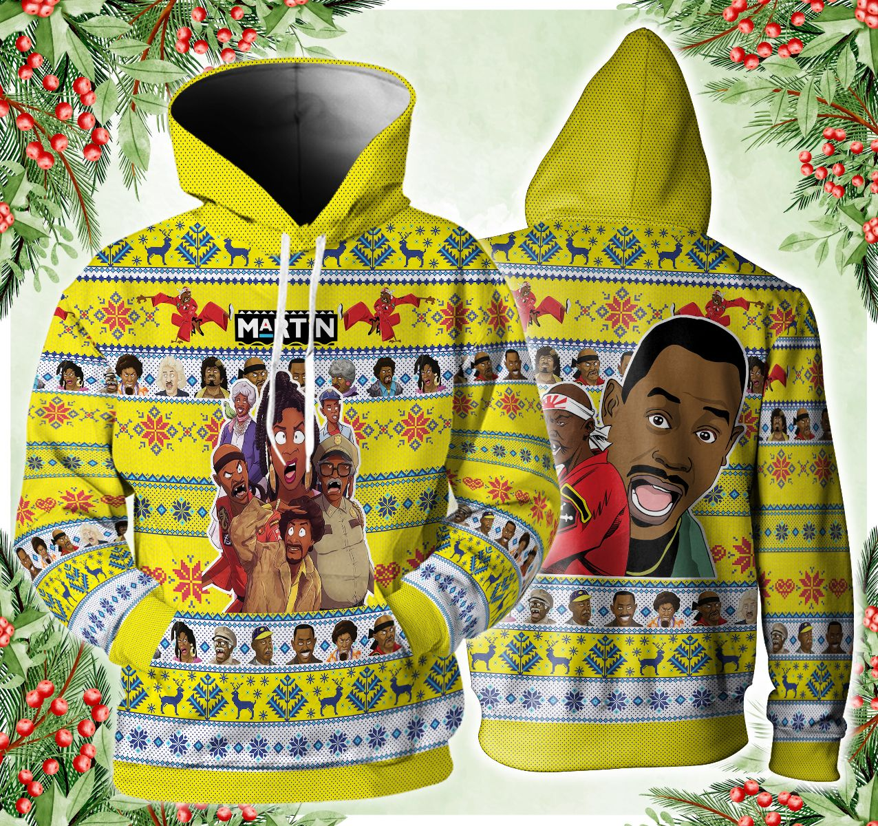 Martin Lover Hoodie and 3D Ugly Sweater