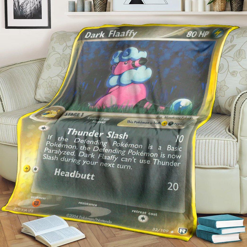 Pokemon Dark Flaaffy Fleece Blanket