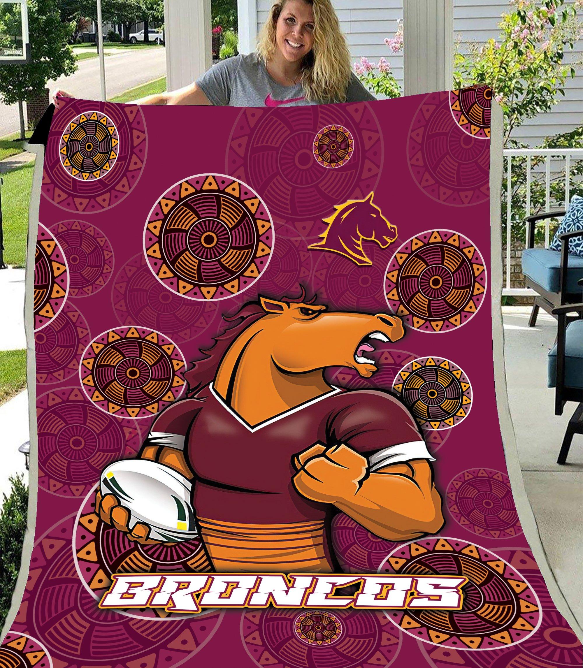 NRL Brisbane Broncos Fleece Blanket