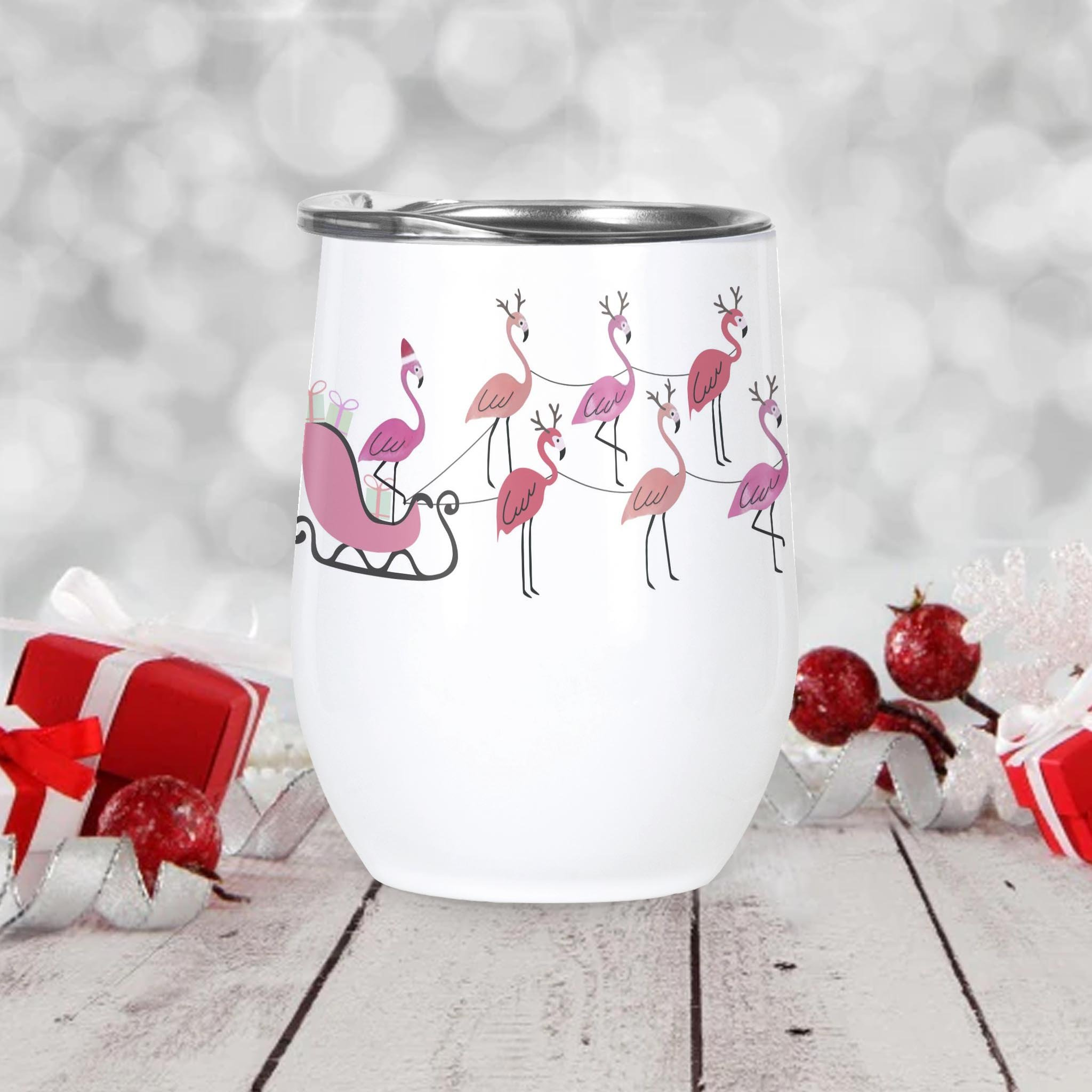 I'm Dreaming Of A Pink Christmas Wine Tumbler