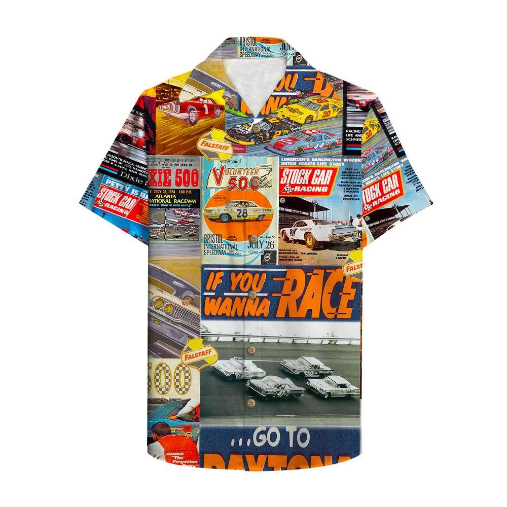 Stock Car Racing Magazine Hawaiian Shirt
