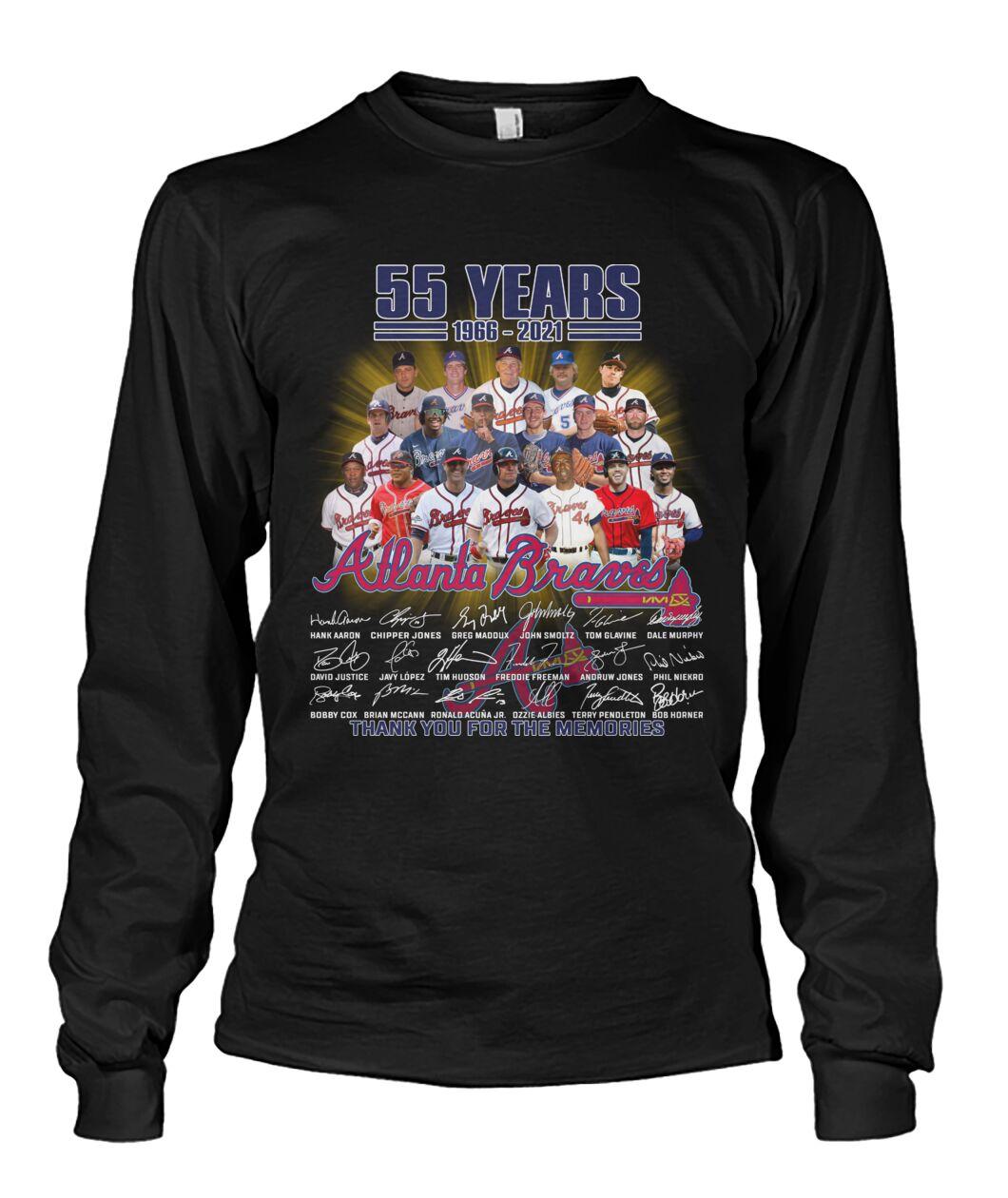 55 years Atlanta Braves Baseball Team 2021 t shirt 2D