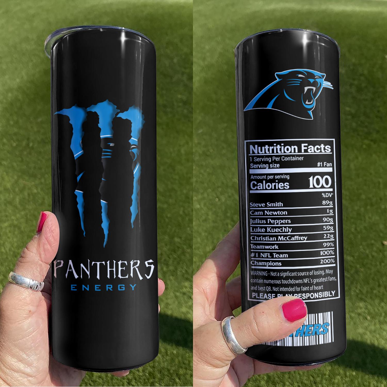 NFL Carolina Panthers Monster Energy Skinny Tumbler Cup