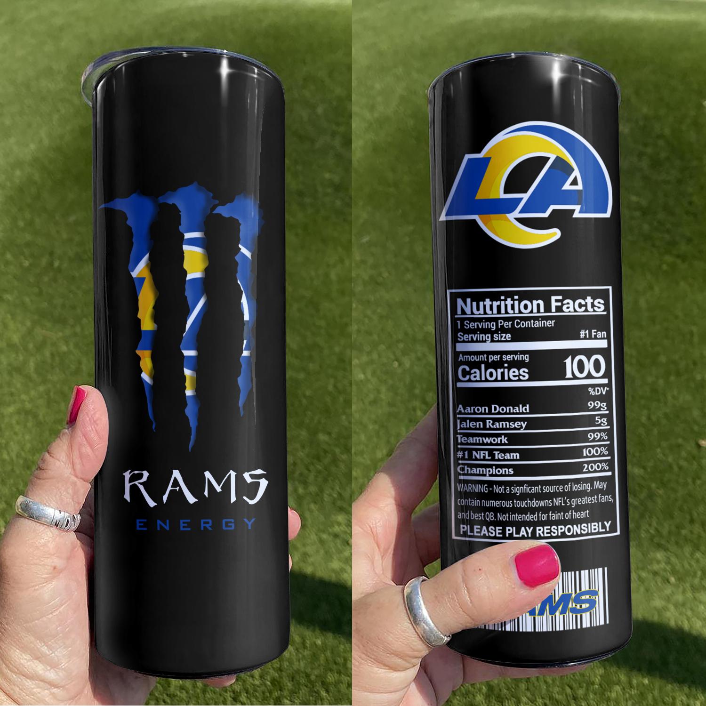 NFL Los Angeles Rams Monster Energy Skinny Tumbler Cup
