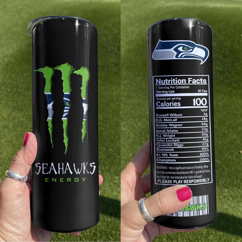 NFL Seattle Seahawks Monster Energy Skinny Tumbler Cup