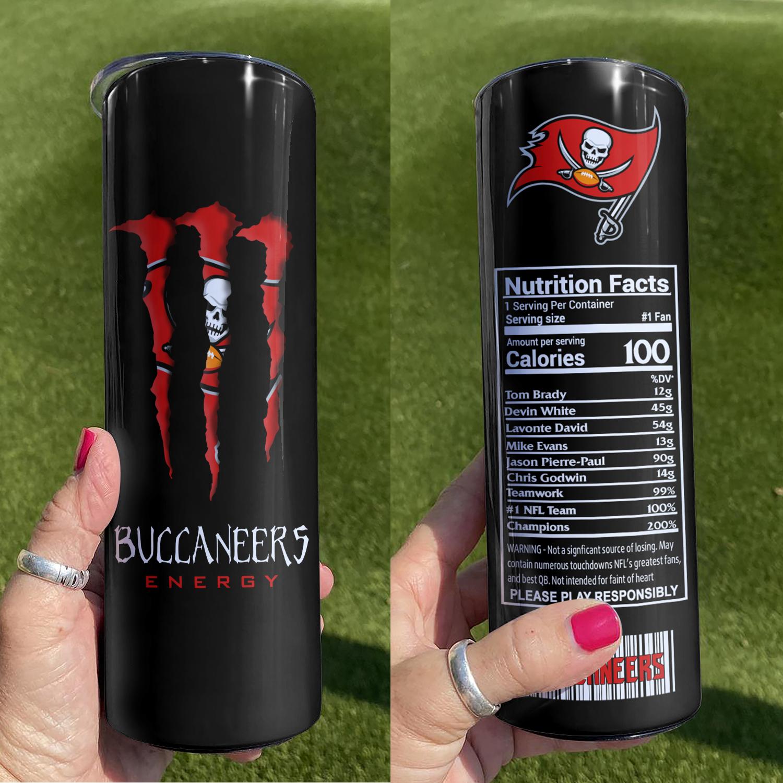 NFL Tampa Bay Buccaneers Monster Energy Skinny Tumbler Cup