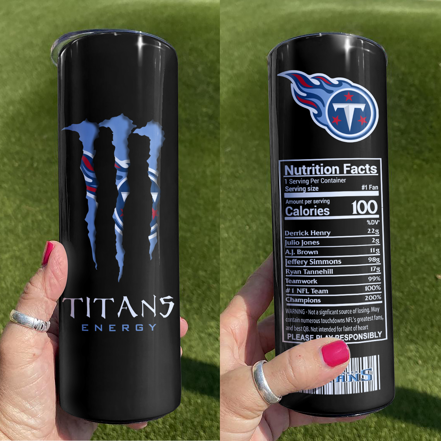 NFL Tennessee Titans Monster Energy Skinny Tumbler Cup