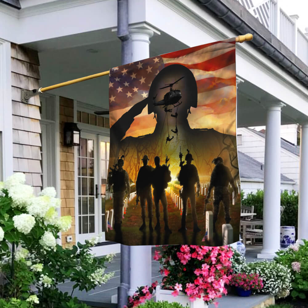American Veteran Flag Beyond Future House Flag Garden Flag