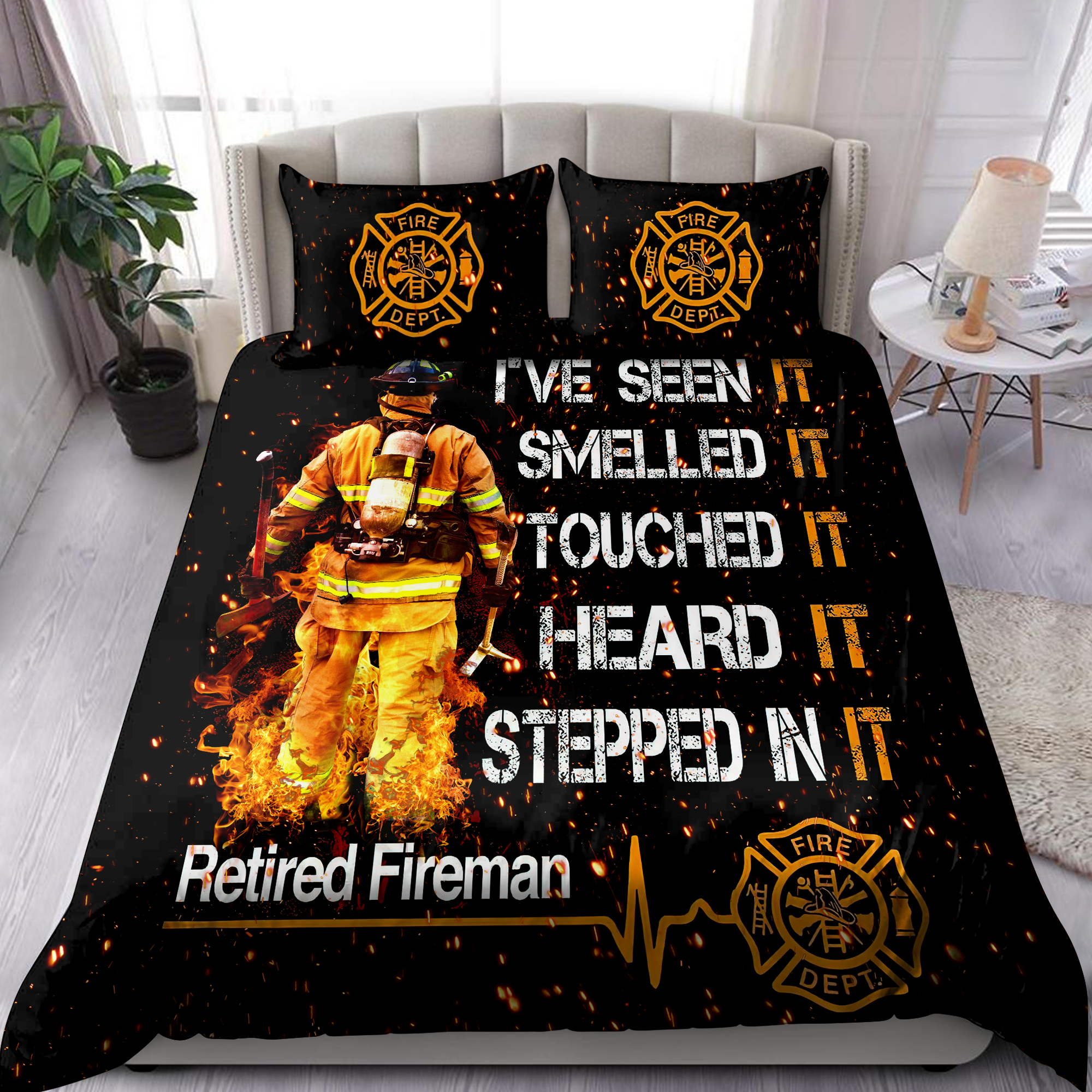 Retired Firefigter Bedding Set