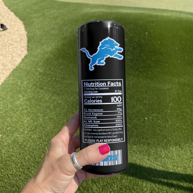 NFL Detroit Lions Monster Energy Skinny Tumbler Cup