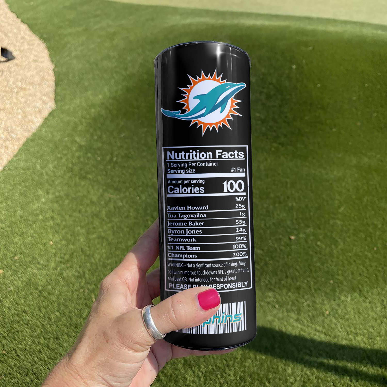 NFL Miami Dolphins Monster Energy Skinny Tumbler Cup