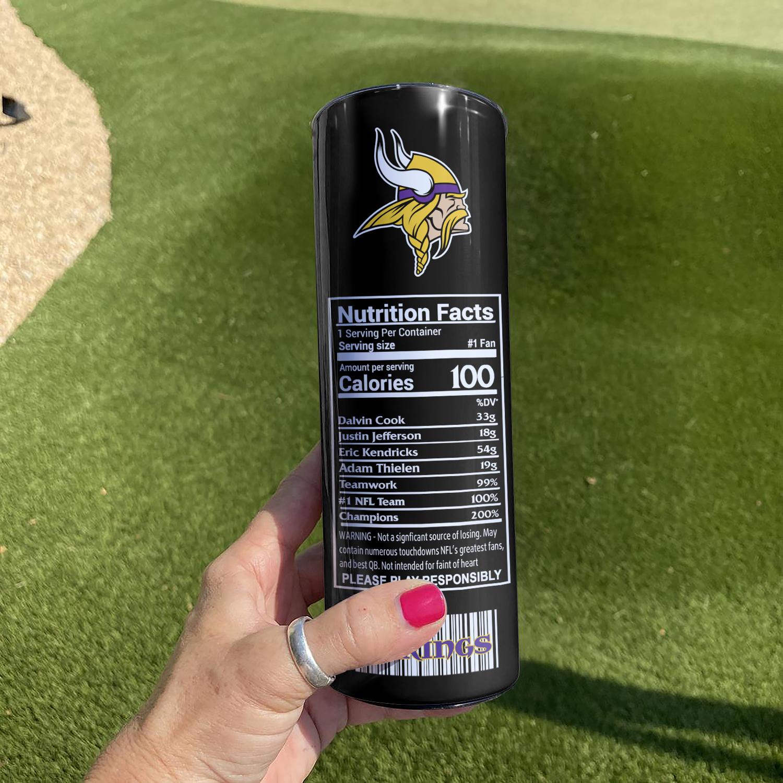 NFL Minnesota Vikings Monster Energy Skinny Tumbler Cup