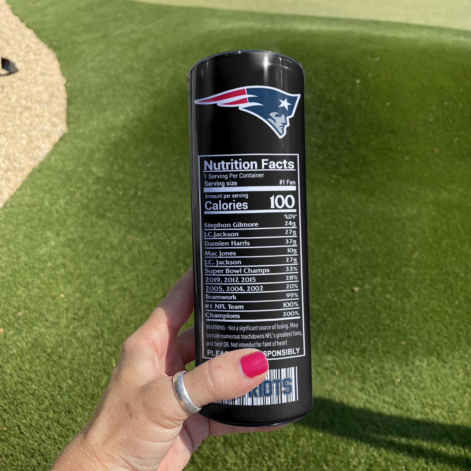 NFL New England Patriots Monster Energy Skinny Tumbler Cup
