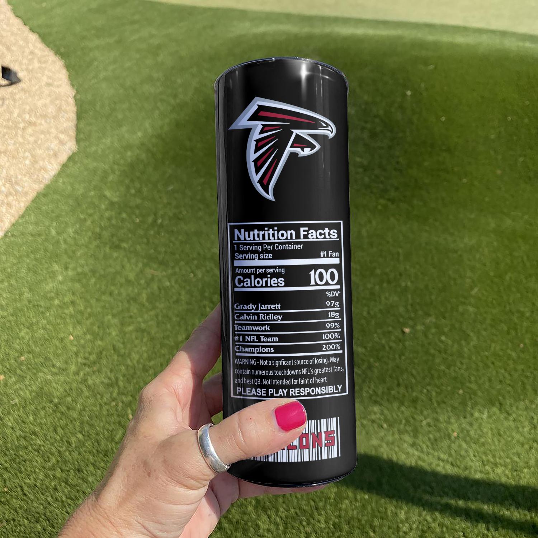 NFL Atlanta Falcons Monster Energy Skinny Tumbler Cup