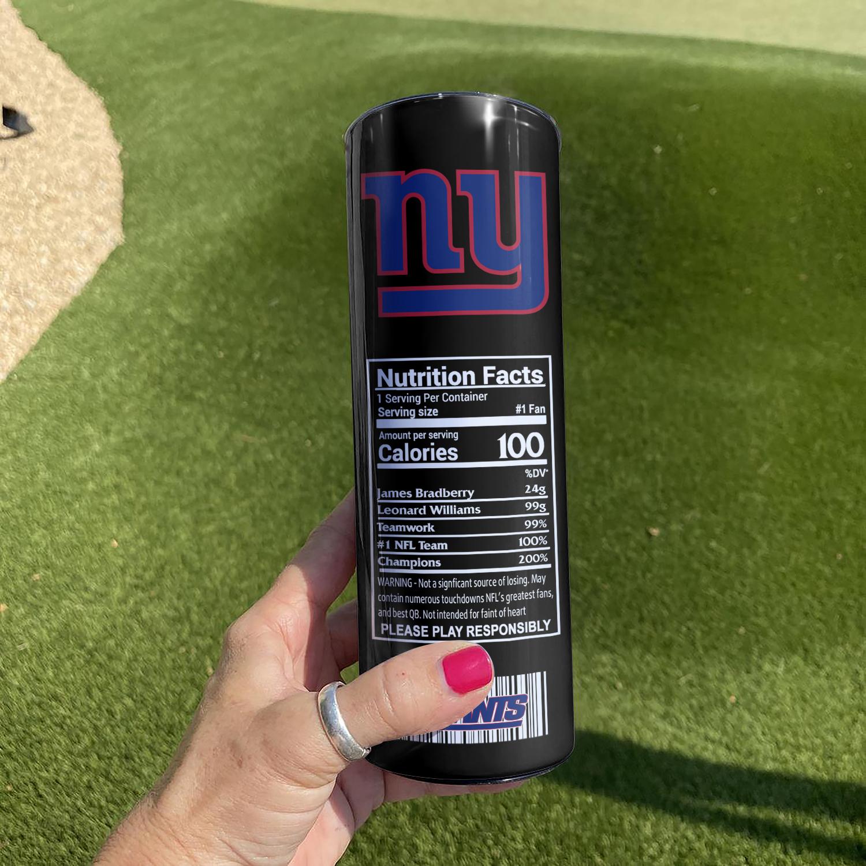 NFL New York Giants Monster Energy Skinny Tumbler Cup